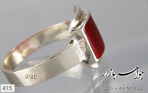 انگشتر عقیق قرمز - عکس 3