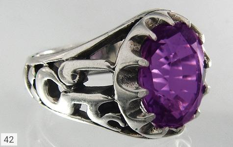 انگشتر آمتیست یاعلی(ع) یافاطمه(س) - عکس 1