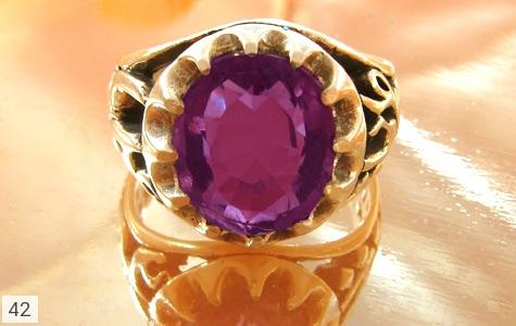 انگشتر آمتیست یاعلی(ع) یافاطمه(س) - تصویر 2