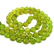 تسبیح کهربا سبز تراش 66 دانه لیتوانی (دریای بالتیک) کمیاب
