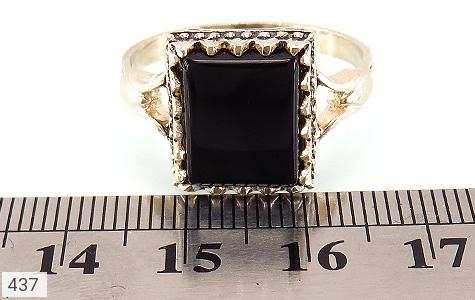انگشتر عقیق سیاه طرح اسپرت - عکس 5