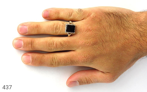 انگشتر عقیق سیاه طرح اسپرت - تصویر 8
