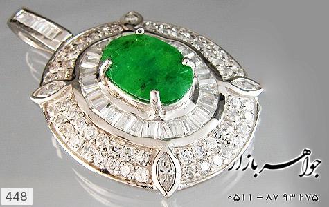 مدال جید درشت جواهری زنانه - عکس 3