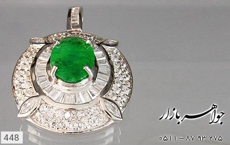 مدال جید درشت جواهری زنانه - تصویر 4