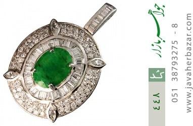 مدال جید درشت جواهری زنانه - کد 448