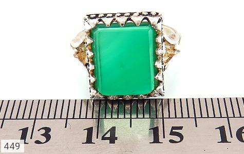 انگشتر عقیق سبز 4 گوش - عکس 5