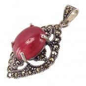 مدال مارکازیت و یاقوت سرخ دامله طرح آترین زنانه