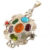 مدال چندنگین 9 سنگ دست ساز
