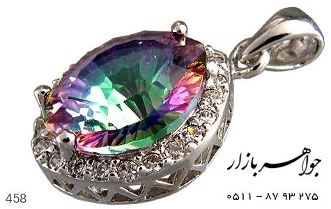 مدال توپاز هفت رنگ پرنگین زنانه - تصویر 2