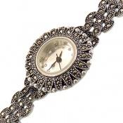 ساعت نقره مارکازیت درشت خورشیدی زنانه