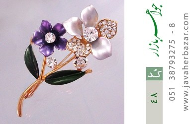 گل سینه طرح گل زنانه - کد 48