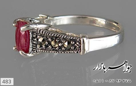انگشتر یاقوت سرخ طرح قلب زنانه - عکس 3