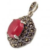 مدال مارکازیت و یاقوت سرخ دامله زنانه