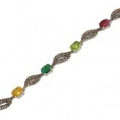 دستبند چندنگین 8 سنگ معدنی اکسترا زنانه