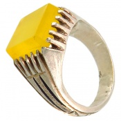 انگشتر عقیق شرف الشمس دست ساز مردانه