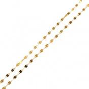 زنجیر نقره ایتالیایی فانتزی روکش آب رودیوم زرد زنانه