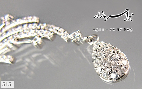 مدال نقره سینه ریز آب رودیوم سفید زنانه - عکس 3