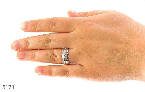 حلقه ازدواج نقره طرح همدم - عکس 5