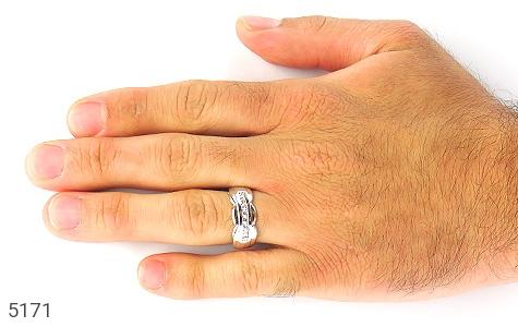 حلقه ازدواج نقره طرح همدم - تصویر 6