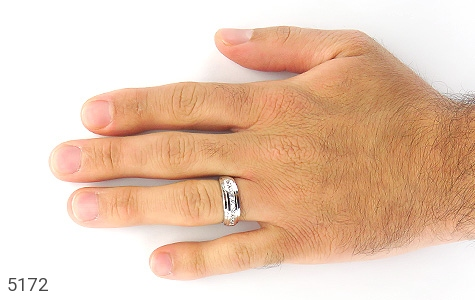 حلقه ازدواج نقره طرح غزل - تصویر 6
