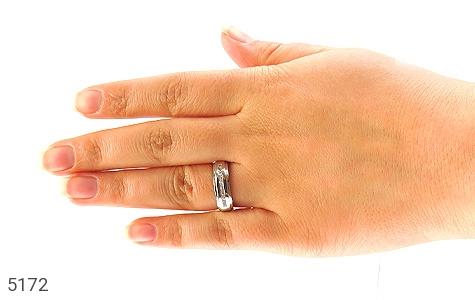 حلقه ازدواج نقره طرح غزل - عکس 7