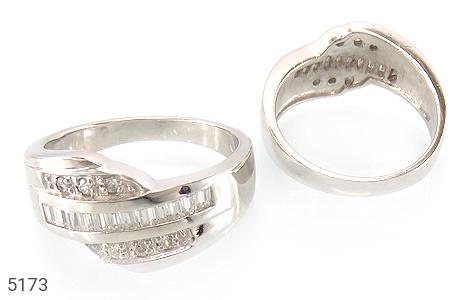 حلقه ازدواج نقره جواهری درشت - تصویر 2