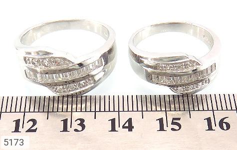 حلقه ازدواج نقره جواهری درشت - عکس 3