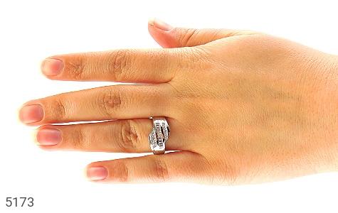 حلقه ازدواج نقره جواهری درشت - عکس 5