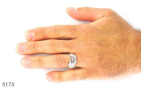 حلقه ازدواج نقره جواهری درشت - تصویر 6