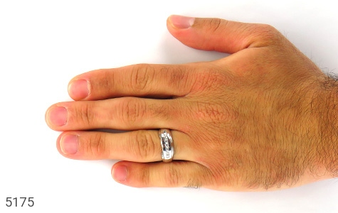 حلقه ازدواج نقره طرح مونس - تصویر 6