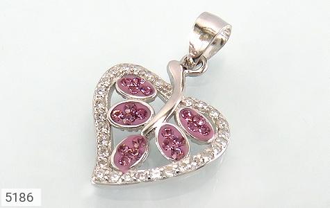 مدال نقره طرح قلب زنانه - عکس 1