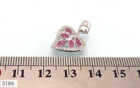 مدال نقره طرح قلب زنانه - عکس 3