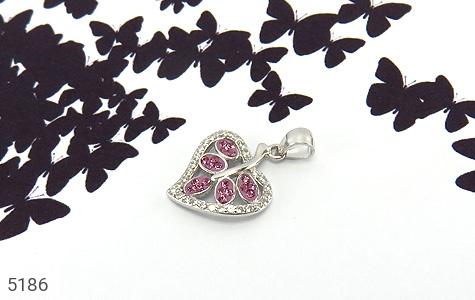 مدال نقره طرح قلب زنانه - تصویر 4