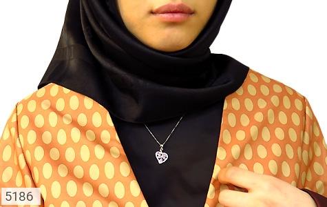 مدال نقره طرح قلب زنانه - عکس 5