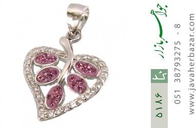 مدال نقره طرح قلب زنانه - کد 5186