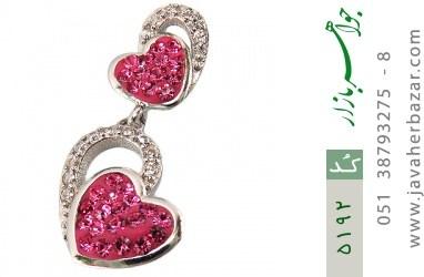 مدال نقره طرح قلب فانتزی زنانه - کد 5192