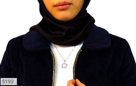 مدال نقره طرح 5 قلب طرح نازگل زنانه - عکس 5