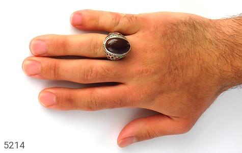 انگشتر عقیق و یاقوت و زمرد و زبرجد یمن رکاب دست ساز - تصویر 6