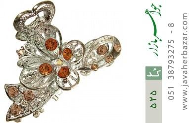 گل سر درشت طرح کهربا زنانه - کد 525
