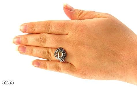 انگشتر کهربا بولونی لهستان شفاف زنانه - تصویر 6
