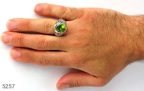 انگشتر زبرجد رکاب دست ساز - عکس 7