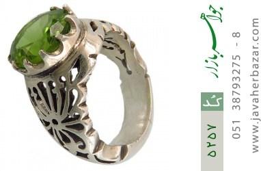 انگشتر زبرجد رکاب دست ساز - کد 5257