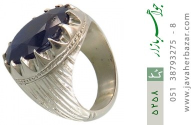 انگشتر یاقوت آفریقایی رکاب دست ساز - کد 5258