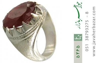 انگشتر یاقوت آفریقایی رکاب دست ساز - کد 5265