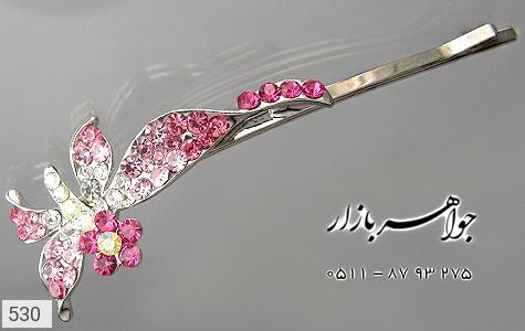 گل سر اتریشی طرح گل(صورتی) زنانه - تصویر 4