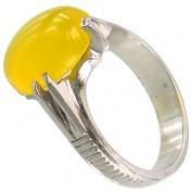 انگشتر عقیق زرد شرف الشمس دست ساز