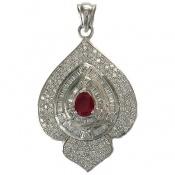 مدال نقره درشت طرح آلین زنانه