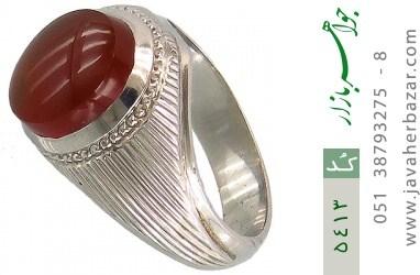 انگشتر عقیق یمن هنر دست استاد لسانی - کد 5413
