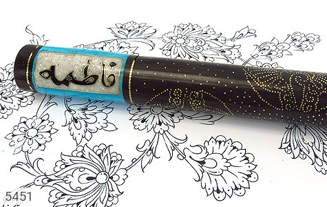 عصا آبنوس و فیروزه فریم دست ساز - تصویر 2