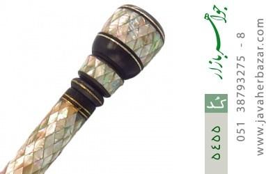 عصا آبنوس و صدف مرصع کاری هنر دست - کد 5455